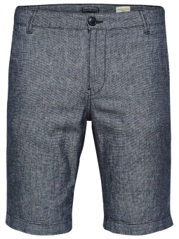 SHHPARIS BLUE LINEN SHORTS