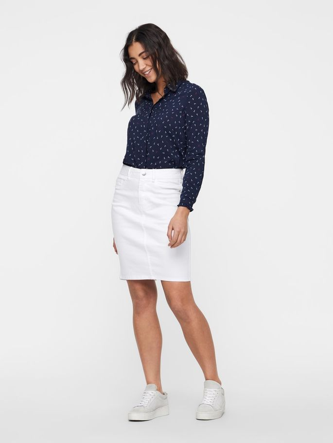 Vero Moda Womens Vmhot Nine Hw DNM Pencil Skirt Noos Ci