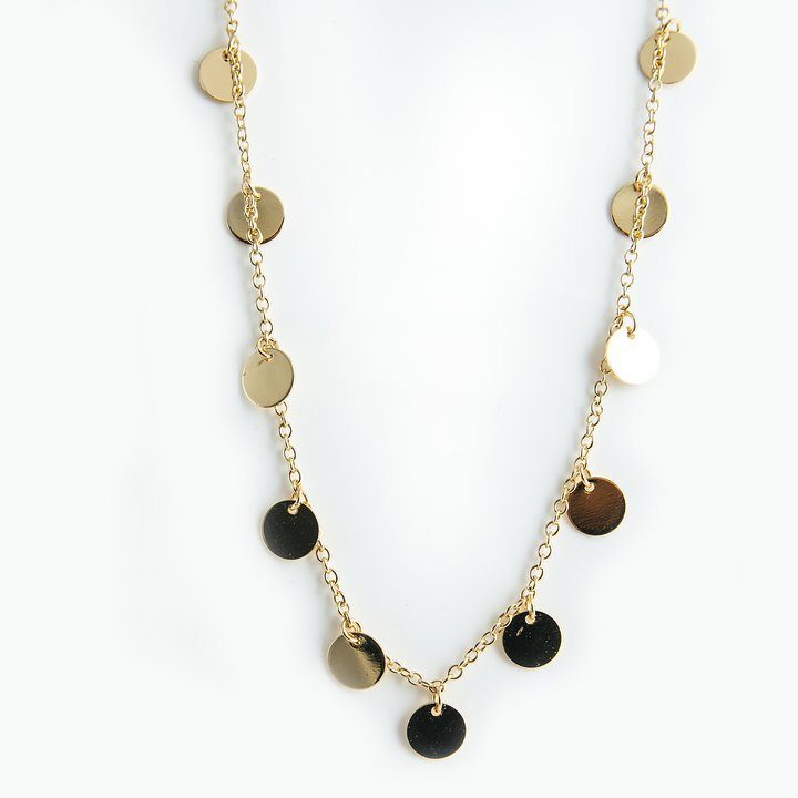 Coin Necklace, Gold 88 cm