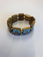 Helgon-armband, olivträ, Jesu & Marie hjärta, från Israel