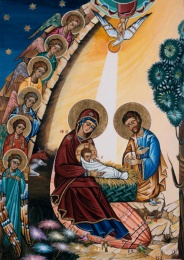Julkort ikon Kristi födelse (Madrid)