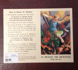 Bönekort - Ärkeängeln Mikael (eng.)