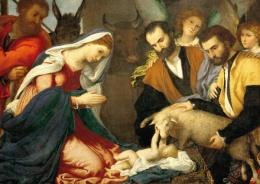 Julkort Kristi födelse (Lozzo, Beu)