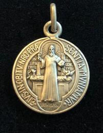 Benedictus-medalj, silver, 18mm, relief
