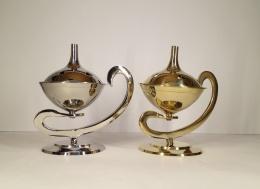 Rökelsekar à la Alladin, silverfärgat, diam. 6 cm