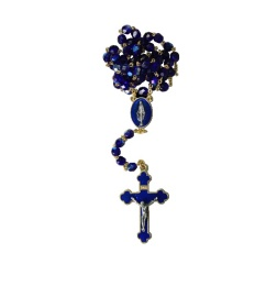 Rosenkrans blå kristall