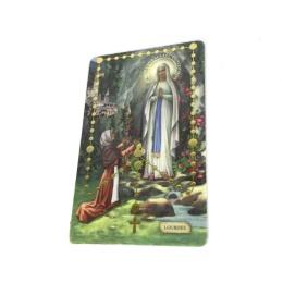 Rosenkrans-kort med upphöjda pärlor
