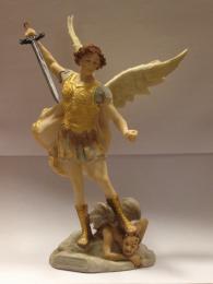 Helige Mikael, ärkeängeln, 26cm, resin