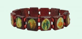 Helgon-armband, mellan, kantigt