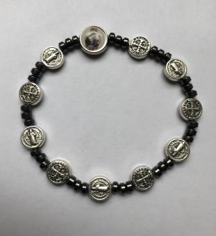 Benedictus-armband m hl Rita, hematit