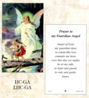 Bönekort, Skyddsängel (eng.)