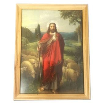 Tavla - Herden Jesus med får, Fururam