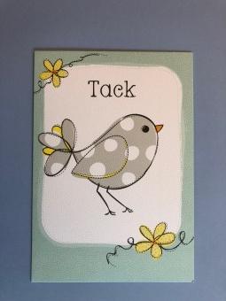 Tack + liten fågel
