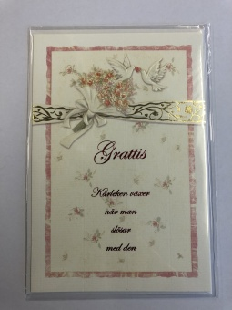 Dubbelt kort m kuvert – Bröllop, kärleken växer när ...
