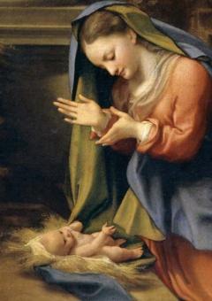Maria tillber Jesusbarnet (Antonio Correggio)