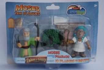 Actionfigurer Mose och Farao