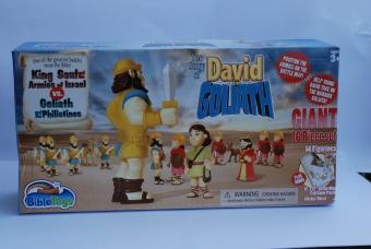 Stort Actionfigurer David och Goliath