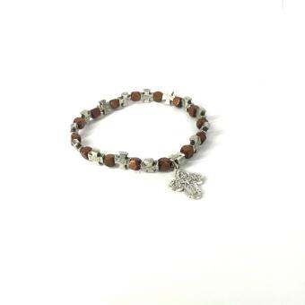 Armband med många kors + Maria