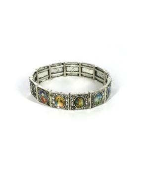 """Helgon-armband, """"antik"""" silverf metall"""