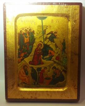 Ikon med bladguld: Kristi Födelse