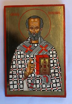 Helige Nikolaus av Myra (20x30), äkta ikon