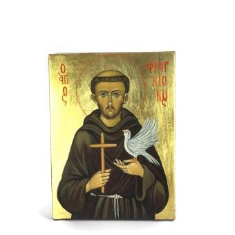 Helige Franciskus (15x20), äkta ikon)