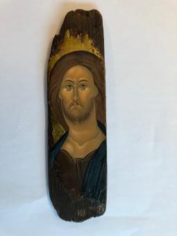 """Kristus (9x33), """"sliten"""" äkta  ikon"""