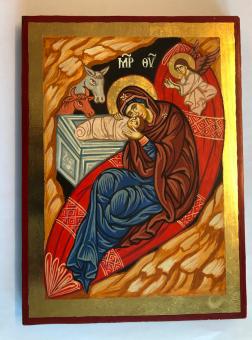 Jesu födelse, detalj (22x30), äkta ikon