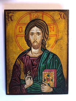 Kristus Allhärskaren / Pantokrator (15 x 20), koptisk äkta ikon