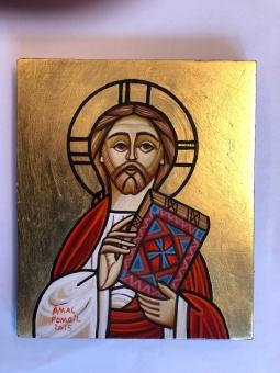 Kristus Allhärskaren / Pantokrator (11 x 20), koptisk äkta ikon