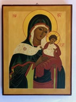 Maria & Jesusbarnet (24x31), äkta ikon