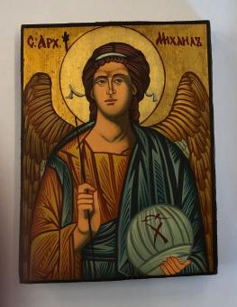 Ärkeängeln Mikael (12x16), äkta ikon
