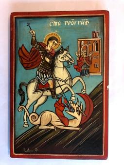 S:t Göran och draken (20x30), äkta ikon
