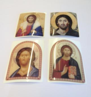 Kristus, klistermärke, stort