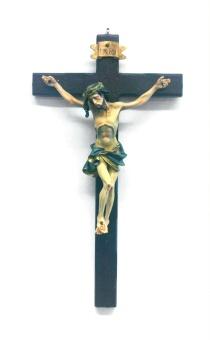Krucifix, trä, målat korpus