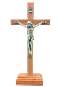 Krucifix, stående, trä (23 cm)
