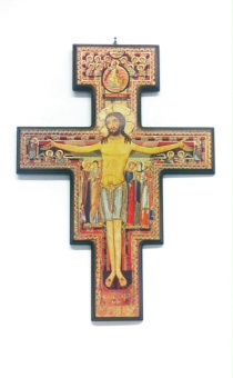 Stort San Damiano-kors, vägg, 41 x 30cm