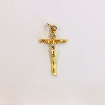 Latinskt Krucifix, guldigt