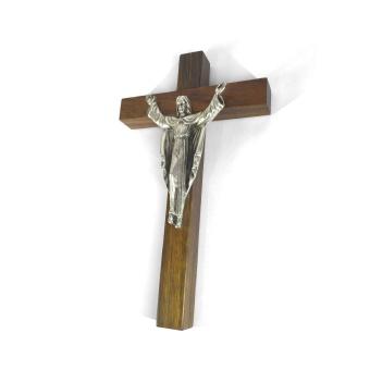 Uppståndelsekrucifix, trä (16,5 cm)
