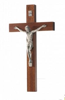 Krucifix, latinskt, mahogny (20 cm)
