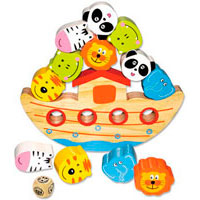 Noas ark - balansspel i trä