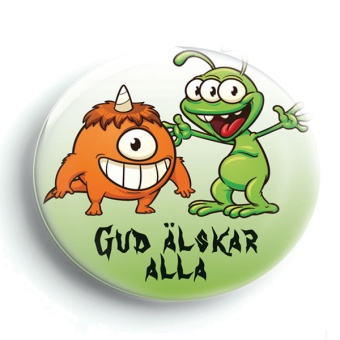 Pin: Gud älskar alla / monster