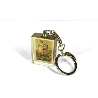 Kristoffer-ikon, plexiglas, fyrkantig