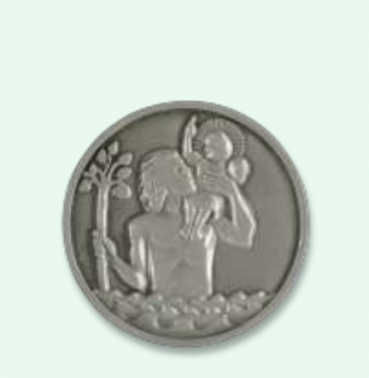 Kristoffer-magnet, relief, 45mm