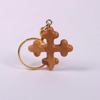 Nyckelring I, olivträ, Israel