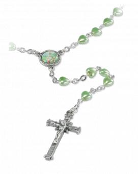 Rosenkrans, grön, hjärtformad