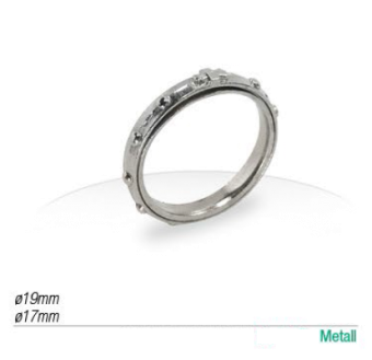 Rosenkrans-ring, silvrig