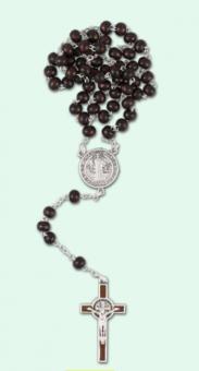 Benedictus-rosenkrans, mörkbrun, mellan