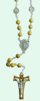 Korsvägsrosenkrans, olivträ (65 cm)