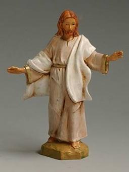 Jesus, uppstånden, vit, 12 cm